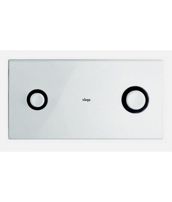 Инсталляционная кнопка альпийский белый с двумя круг. кноп. Viega  [Visign for Public 2 / 8327.1]