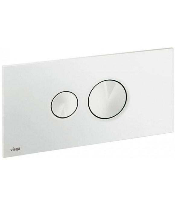 Инсталляционная кнопка альпийский белый с двумя круг. кноп. Viega  [Visign for Style 10 / 8315.1]