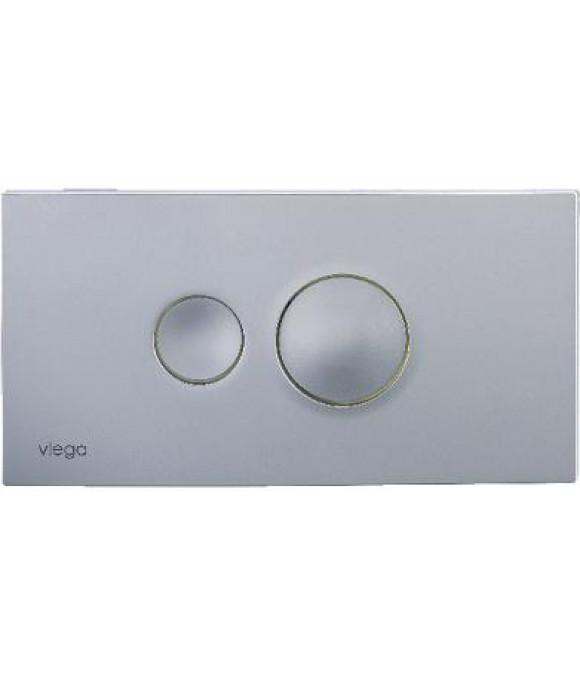 Инсталляционная кнопка хром.-матовый с двумя круглыми кнопками Viega  [Visign for Style 10 /8315.1]