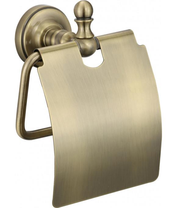 GZ 31030 D  Настенный держатель туалетной бумаги с крышкой БРОНЗА