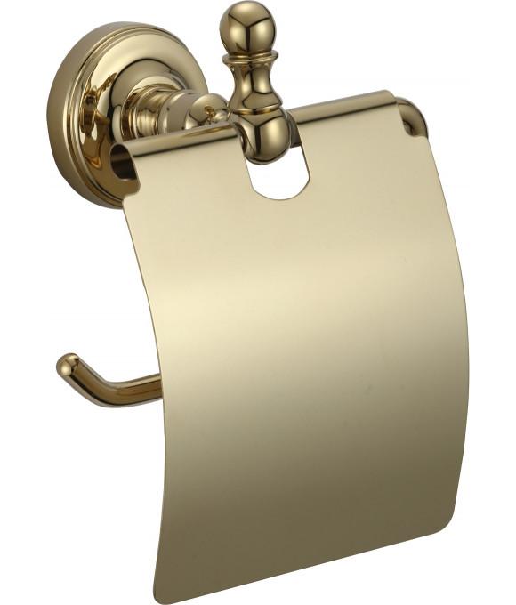 GZ 31030 E  Настенный держатель туалетной бумаги с крышкой ЗОЛОТО
