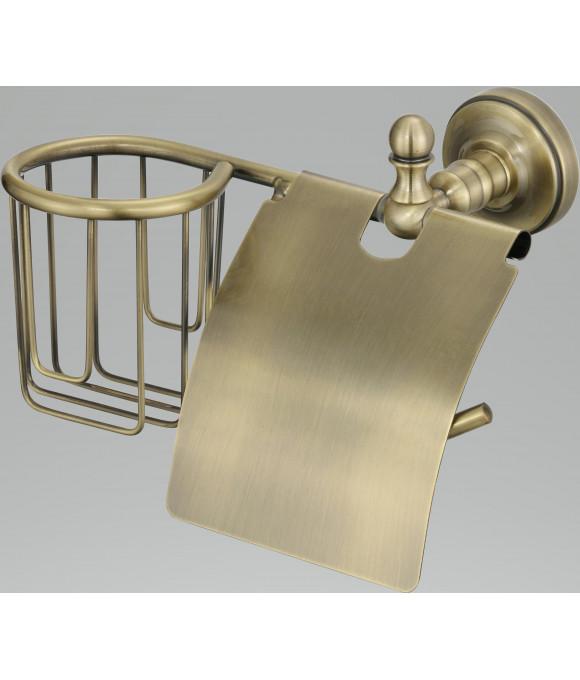 GZ-R 31031 D  Настенный держатель для освежителя и т/бумаги с крышкой