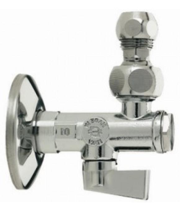 Кран угловой с фильтром шарнир. 1/2-10  F.I.V.