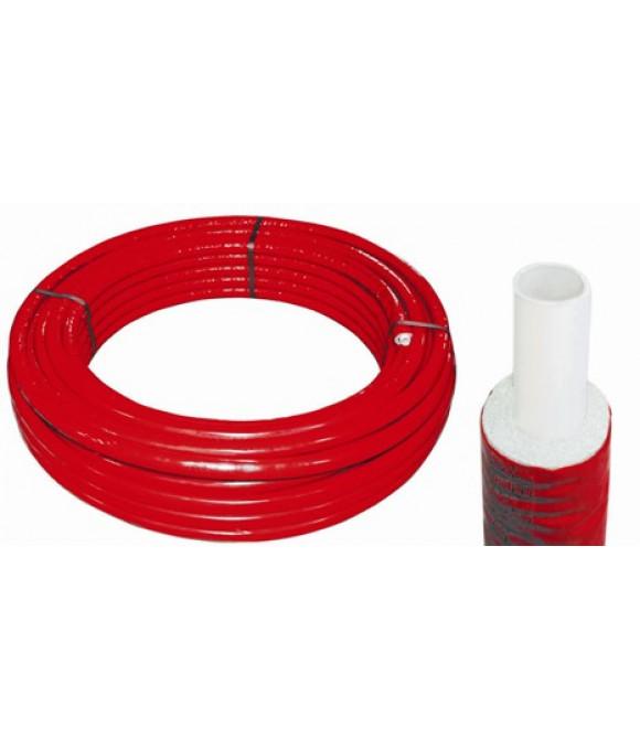 Труба металлопласт. ф16х2 Pert/Al/Pert в теплоизоляции 6мм КРАСНАЯ Comisa (Италия)