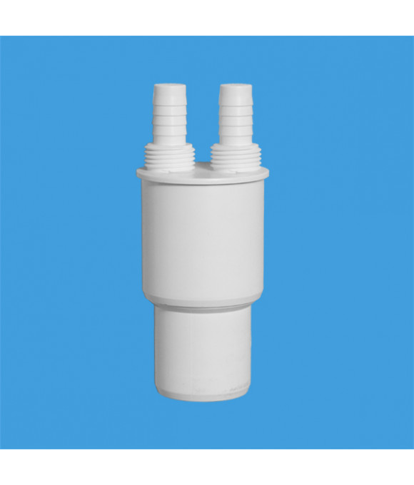 Адаптер для подключения слива с 2-я отводами вых.-40/50 McALPINE WFH-CON4050