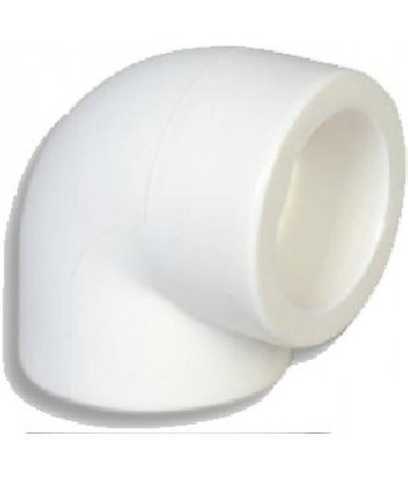 Белый  уголок 90°- ф25 Imperial