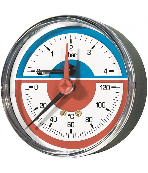 Термоманометр горизонтальный 80- 1/2-120°C- 6bar Imperial Италия