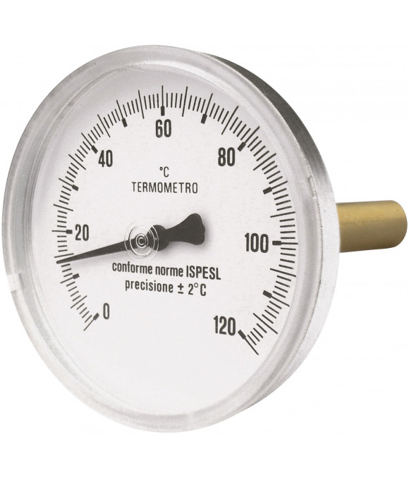 Термометр  горизонтальный 63- 50мм-1/2-120°C  Imperial Италия