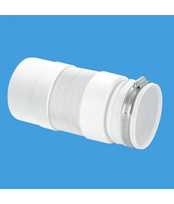 ГОФРА  для унитаза вход 97-107 с метал. хомут., дл. 33-76см вых. глад. 110мм McALPINE WC-F33PJ