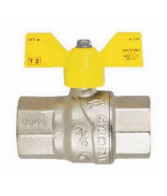 Кран  FIV шаровой для газа   1/2 г/г Б-ка (Италия)