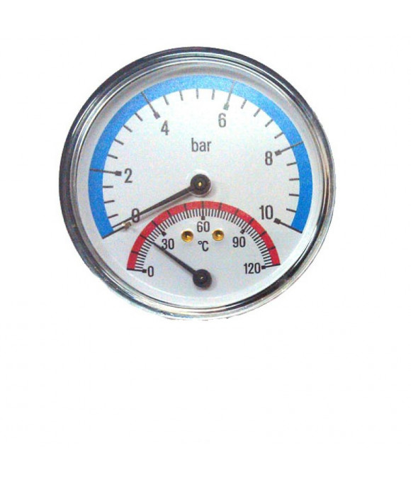 "YF10 Термоманометр гор. (СЗАДИ) 1/2, 120""С  10 БАР  ViEiR YF10"
