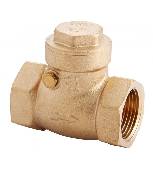 """CV.530.04 Горизонтальный латунный  обратный клапан 1/2"""""""