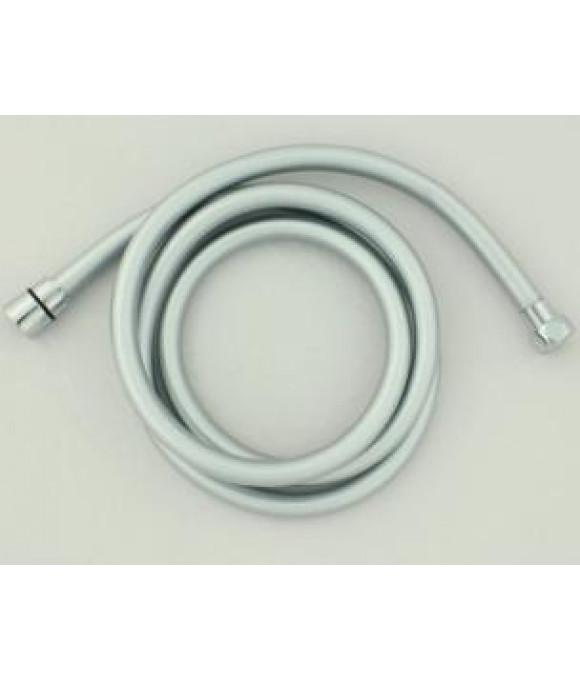 Шланг для душа имп./имп серебристый металик 1,50м. (в кор.) EVRICA 23-150