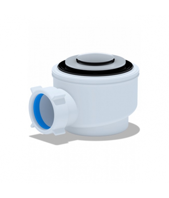 Е410CLS Сифон АНИ для душев/поддона 1 1/2*50 хром, клик-клак(сетка)