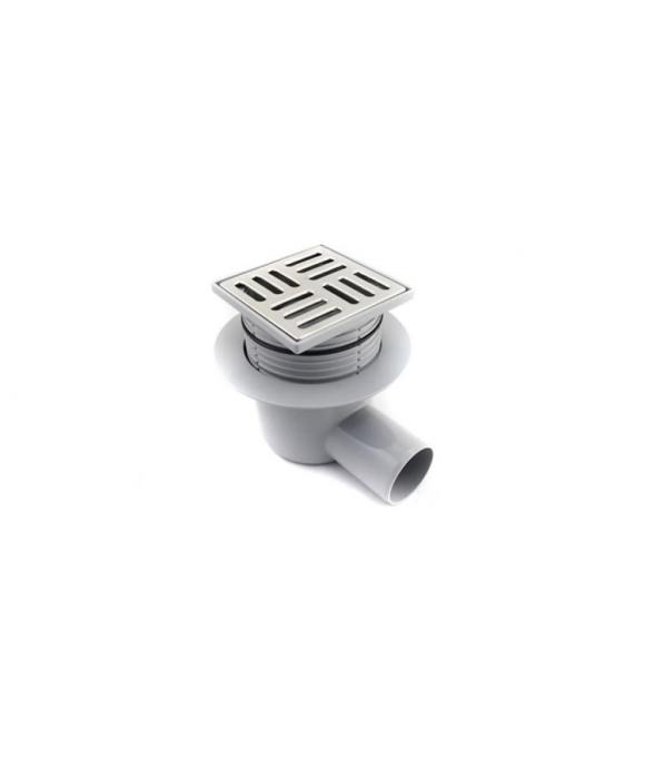 TA5602 Трап АНИ ф50 косой, решетка нерж/сталь 10 х10, регулируемый
