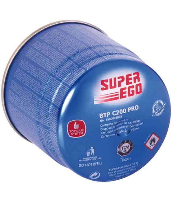 Газовый баллончик BTP  C200, 330мл пропан-бутан, t до1925°C (совместим с3593100) SUPER EGO
