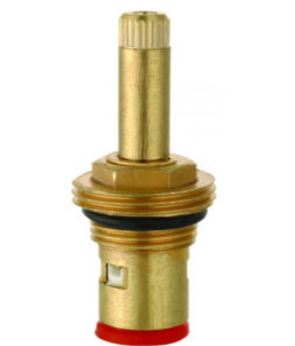 DK-342  Кран букса 1/2 керамика с резьбой под юбку 24 шлица 2 резьбы