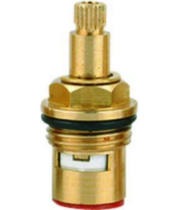 DK-346  Кран букса 1/2 керамика стандартная 24 шлица с 1 резьбой улучшенная