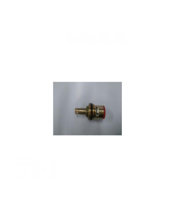 DK-3420A  Кран букса металлическая с прорезью с резьбой под юбку 24 шлица , 40 грамм, 2 резьбы