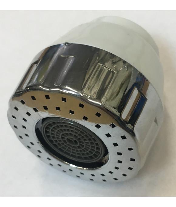 DK-565  голова на гибкий излив для кух-го смесителя (белый + хром)