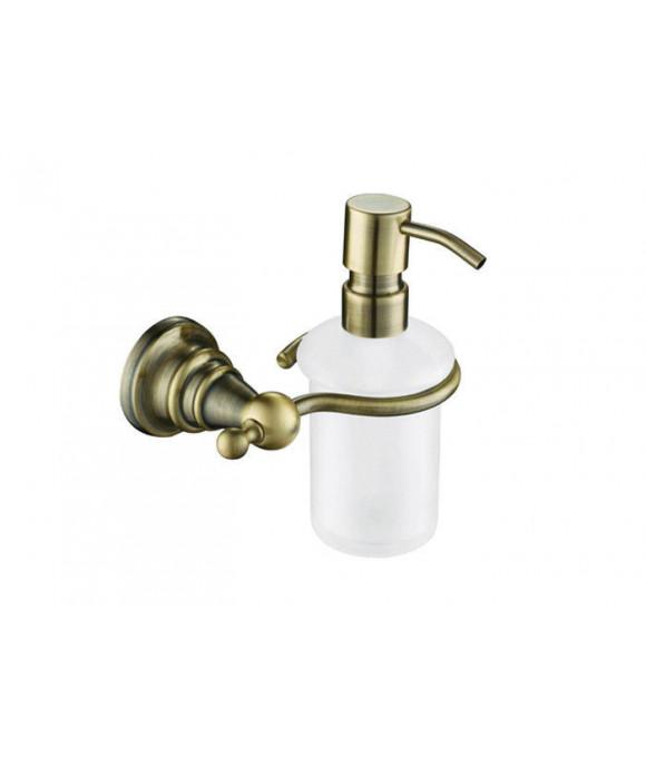 4210 Дозатор для жидкого мыла настенный (стекло) бронза (латунь)
