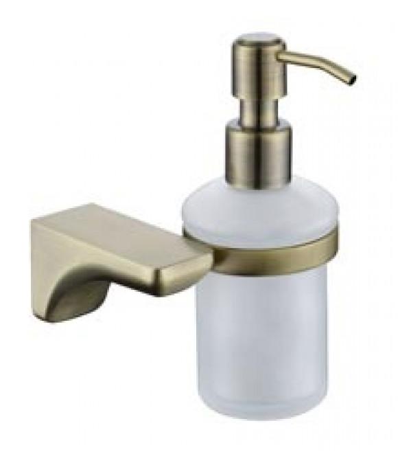 4510 Дозатор для жидкого мыла настенный (стекло) бронза (нерж)