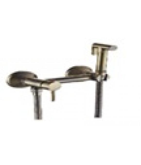 4938  VIKO Смеситель настенный под биде Ø35 с гиг. душем, Bronze