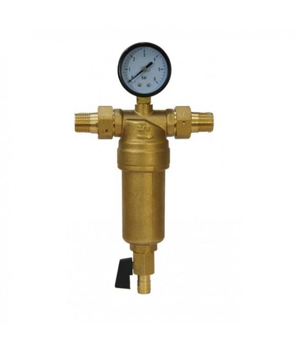 Фильтр с ман.  ДЛЯ  горячей воды 1/2  (МЕТАЛЛ)  ViEiR JH151